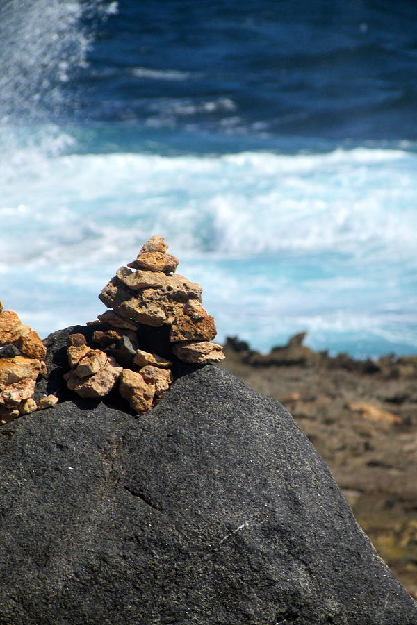Rocks Photograph - Wishing Rocks by Andrea Dale