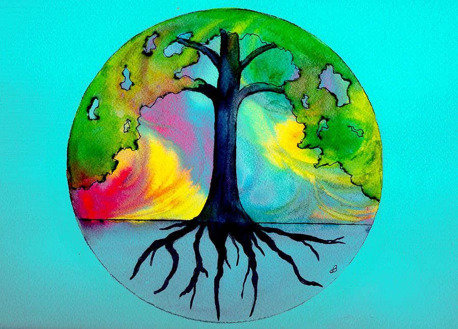 Watercolor Painting - Wishing Tree by Brenda Owen