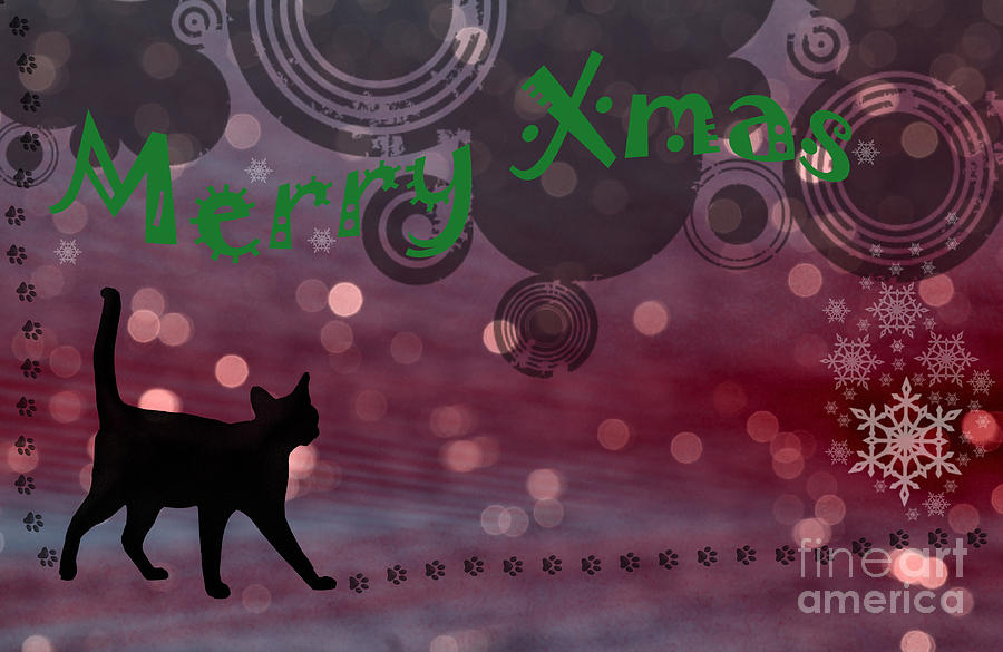 Texture Photograph - Wishing You All A Purrfect Xmas... by Nina Stavlund