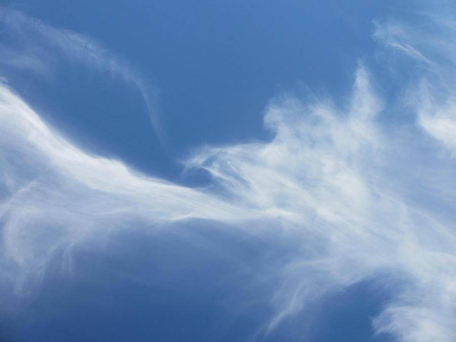 Blue Sky Photograph - Wispy Summer by Steven Hart