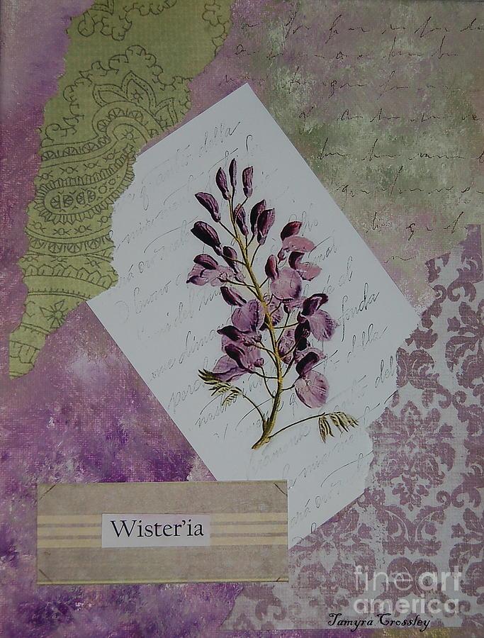 Wisteria Painting - Wisteria by Tamyra Crossley