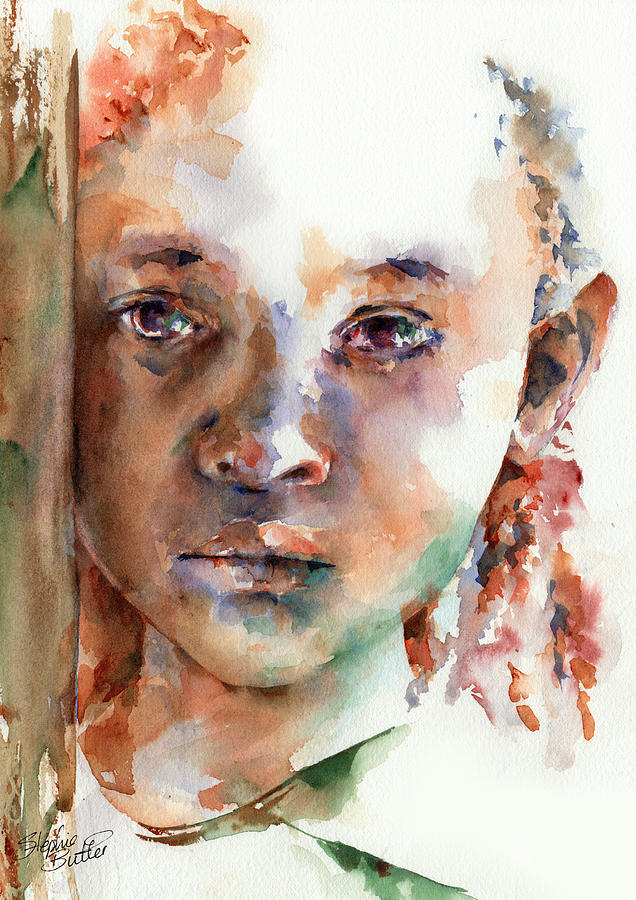 Girl Painting - Wistful by Stephie Butler