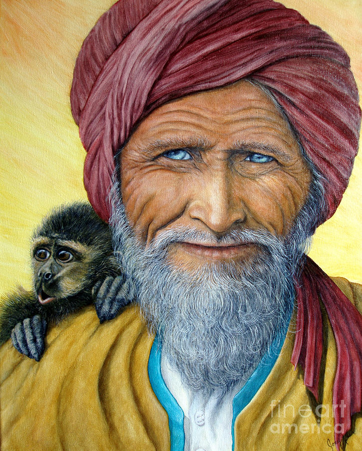 Moroccan Painting - Wit And Wisdom by Joey Nash