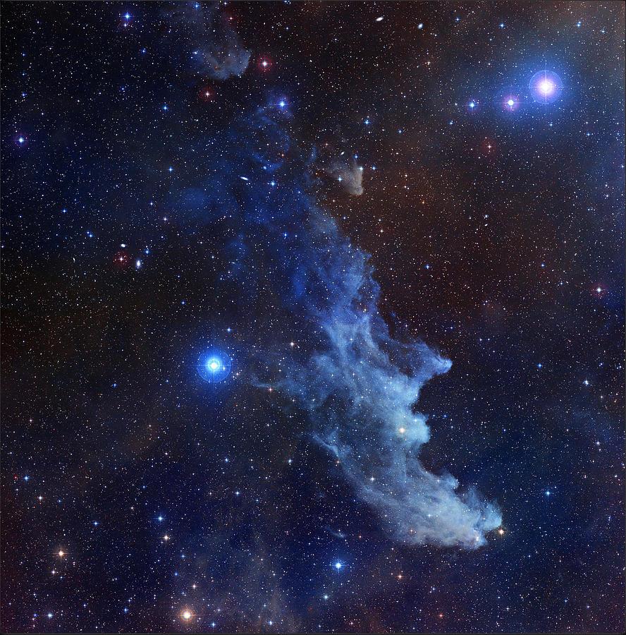 Witch Head Nebula Space Blue