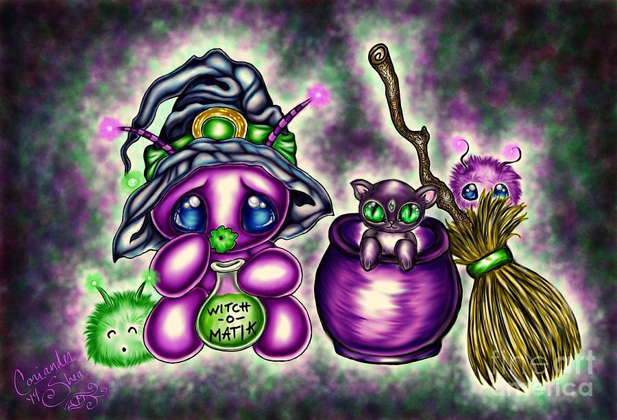 Witch Digital Art - Witch-o-matik by Coriander  Shea