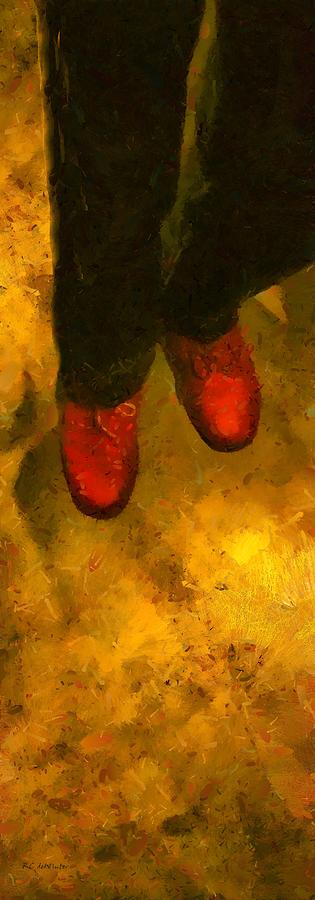 Legs Painting - Witch Walking by RC deWinter