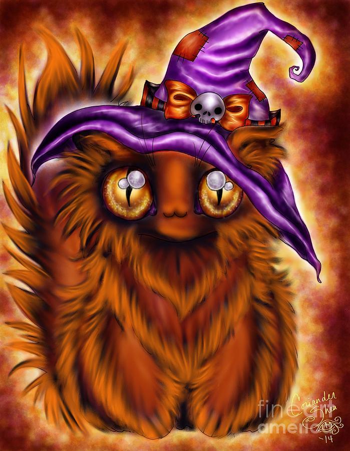 Halloween Digital Art - Witchkitty by Coriander  Shea