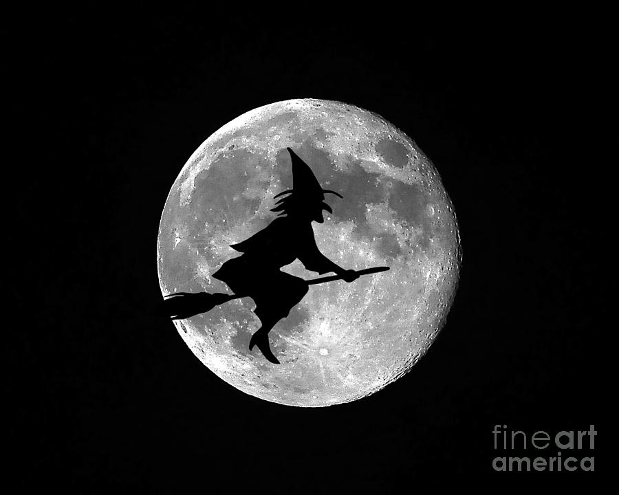 Moon Photograph - Witchy Moon by Al Powell Photography USA