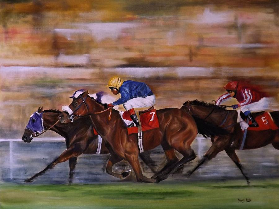 WITH A RUN DOWN THE OUTSIDE by Barry BLAKE
