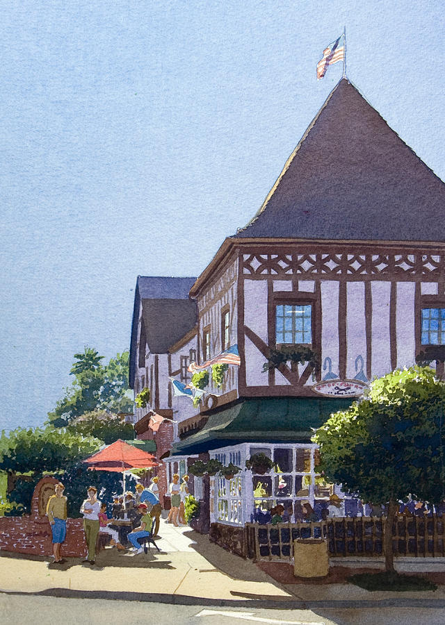 Del Mar Painting - With Friends At Stratford Square by Mary Helmreich