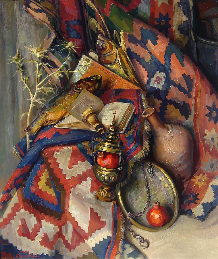 Still Life Painting - With Secret Sense by Meruzhan Khachatryan