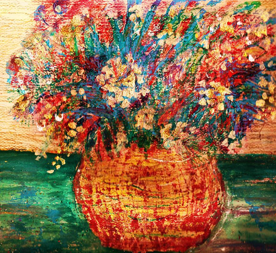 Flowers Painting - With Tears For Water by Anne-Elizabeth Whiteway