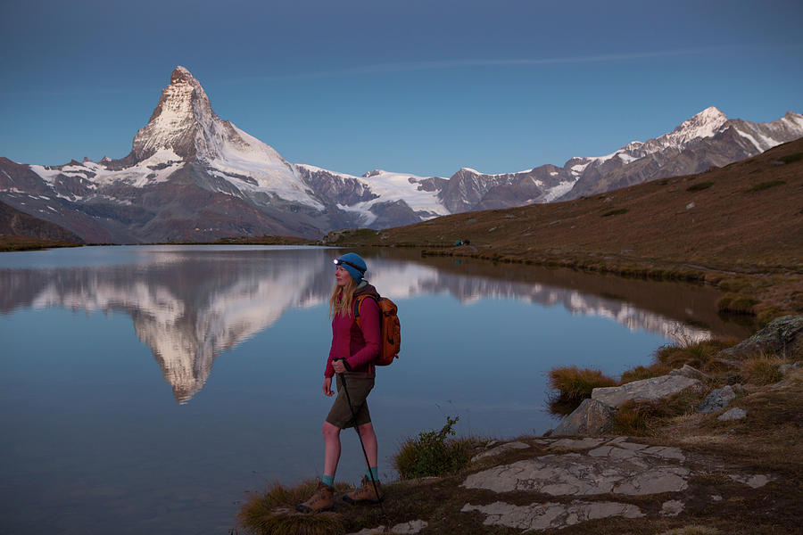 Zermatt Photograph - With The Matterhorn In The Background by Menno Boermans