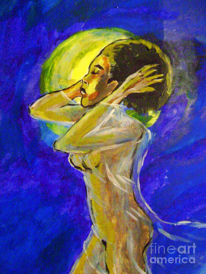 Nude Painting - With The Wind by Sidney Holmes
