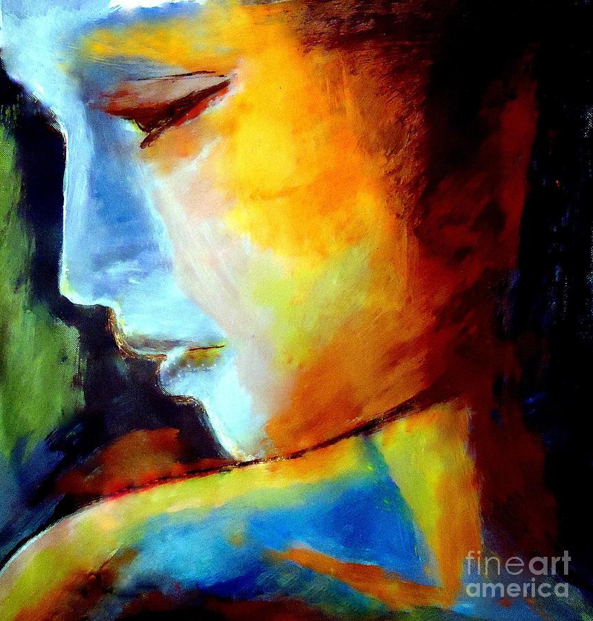Portrait Painting - Within by Helena Wierzbicki