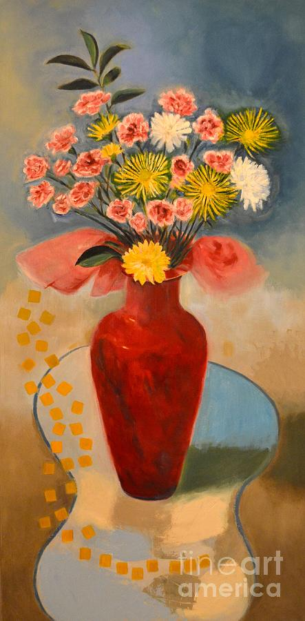 Floral Painting - Without Fret by Karen Francis