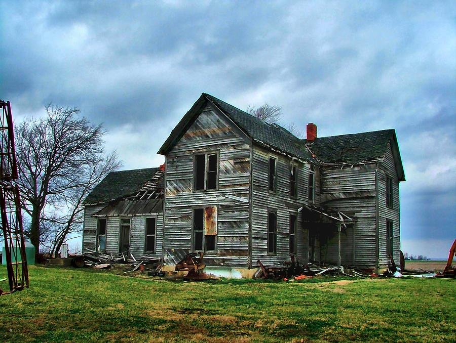 Old Houses Photograph - Withstanding Another Spring Storm  by Julie Dant