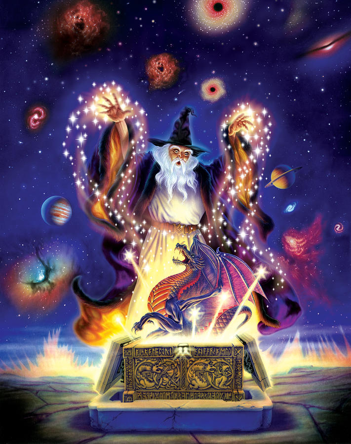 wizard dragon spell photograph by andrew farley