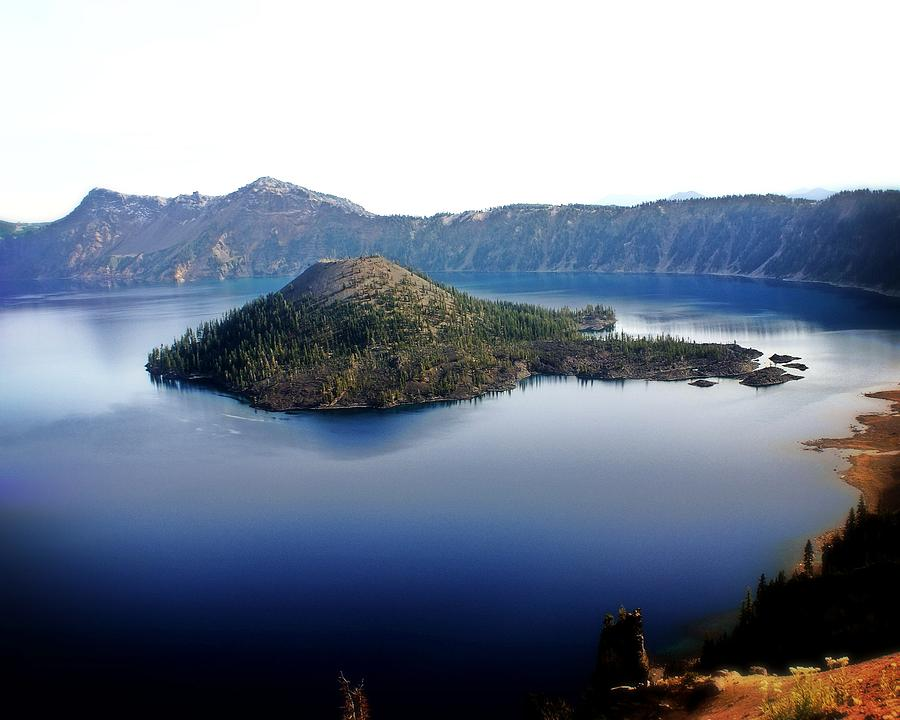 Crater Lake Photograph - Wizard Island 1 by Marty Koch
