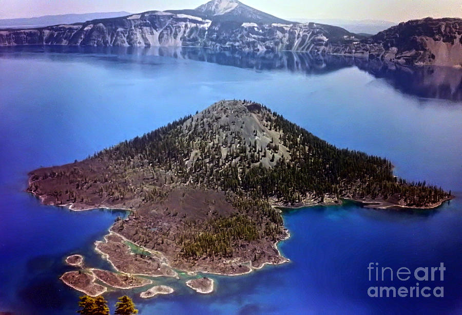 Landscape Photograph - Wizard Island by Steven Valkenberg