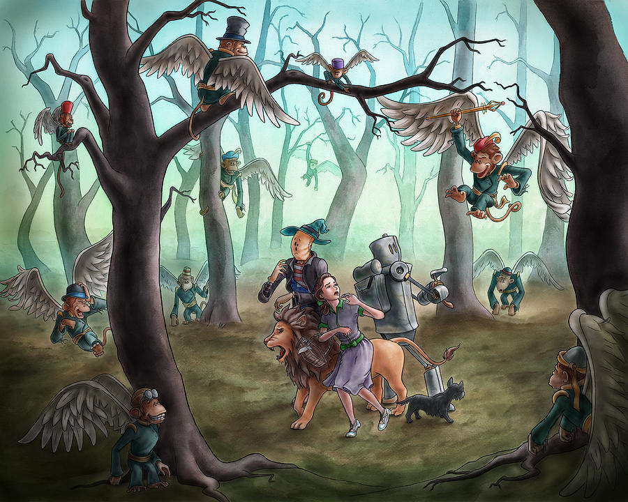 330f3eb0e The Wonderful Wizard Of Oz Painting - Wizard Of Oz - The Flying Monkeys by  Jeremy