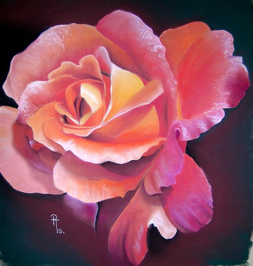 Red Rose Pastel - Woburn Abbey by Rosemarie Temple-Smith