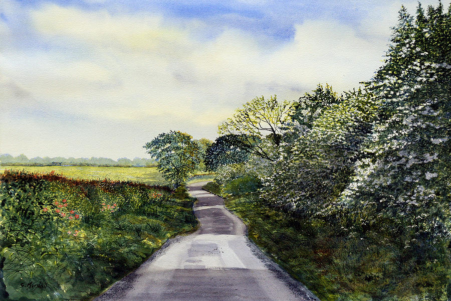 Watercolour Painting - Woldgate - Late Spring by Glenn Marshall