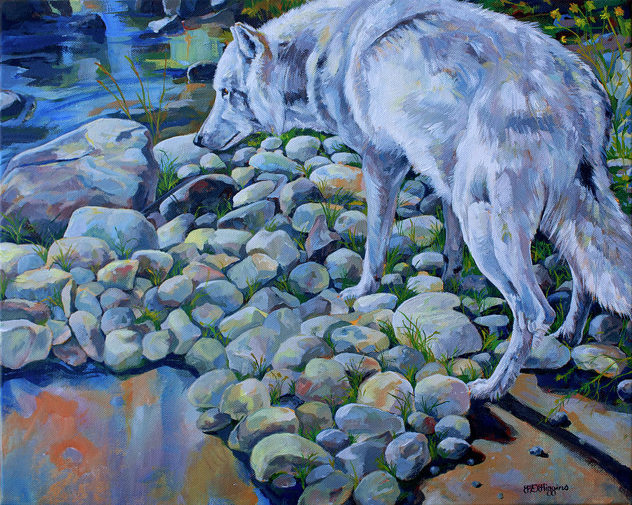 Wolf Painting - Wolf Creek by Derrick Higgins