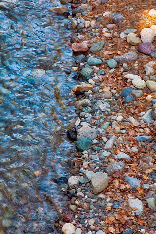 North Cascades Painting - Wolf Creek Downstream by Omaste Witkowski