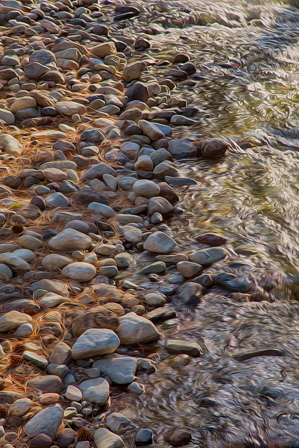 North Cascades Painting - Wolf Creek Upstream by Omaste Witkowski