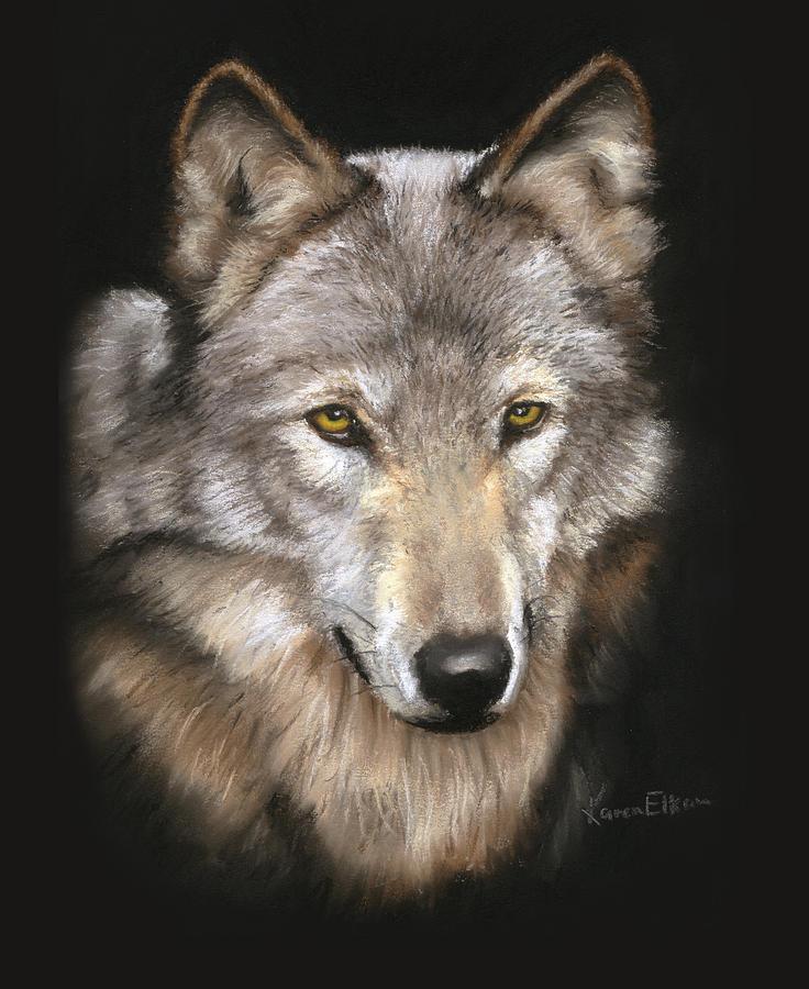 Wolf Face by Karen Elkan