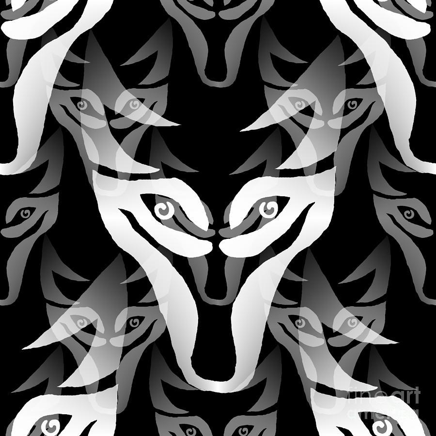 Wolf Mask Digital Art By Barbara Moignard