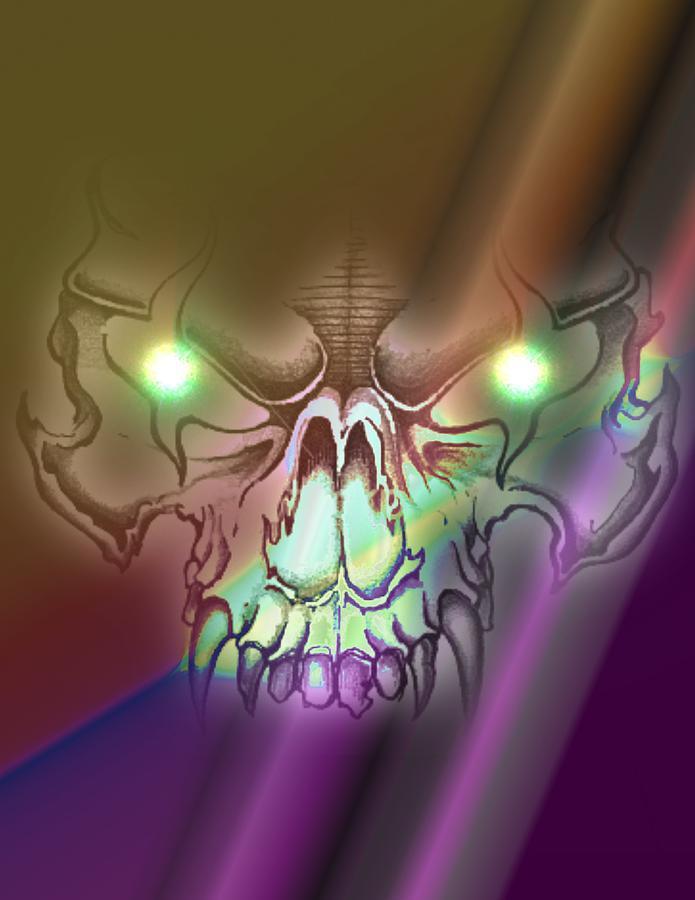 Wolf Skull Digital Art - Wolf Skull by Krazee Kustom