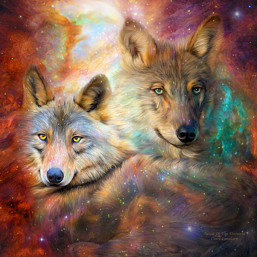 Wolf - Spirit Of The Universe by Carol Cavalaris