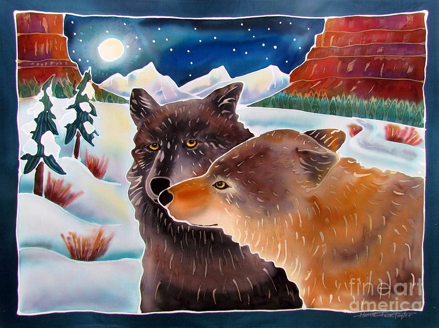 Wolf Painting - Wolf Talk by Harriet Peck Taylor