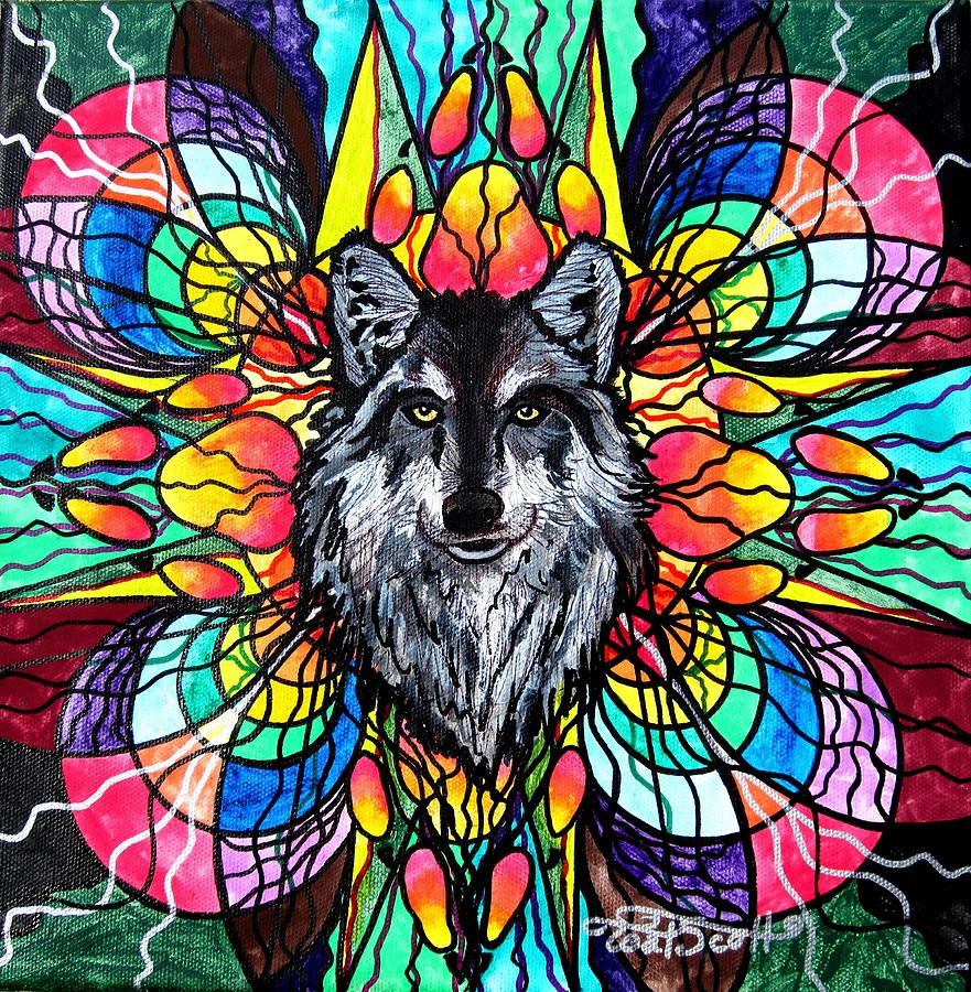 Wolf Painting - Wolf by Teal Eye  Print Store
