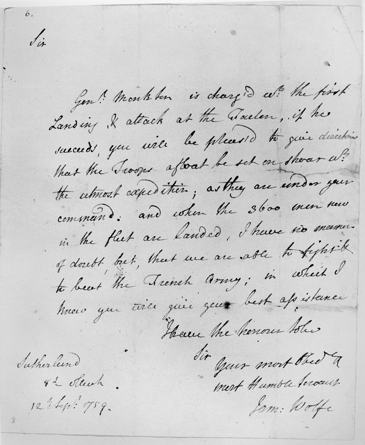 1759 Painting - Wolfe Letter, 1759 by Granger