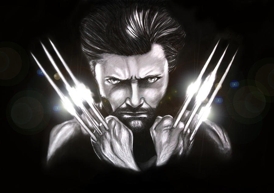 Wolverine Digital Art - Wolverine by Kim Lagerhem