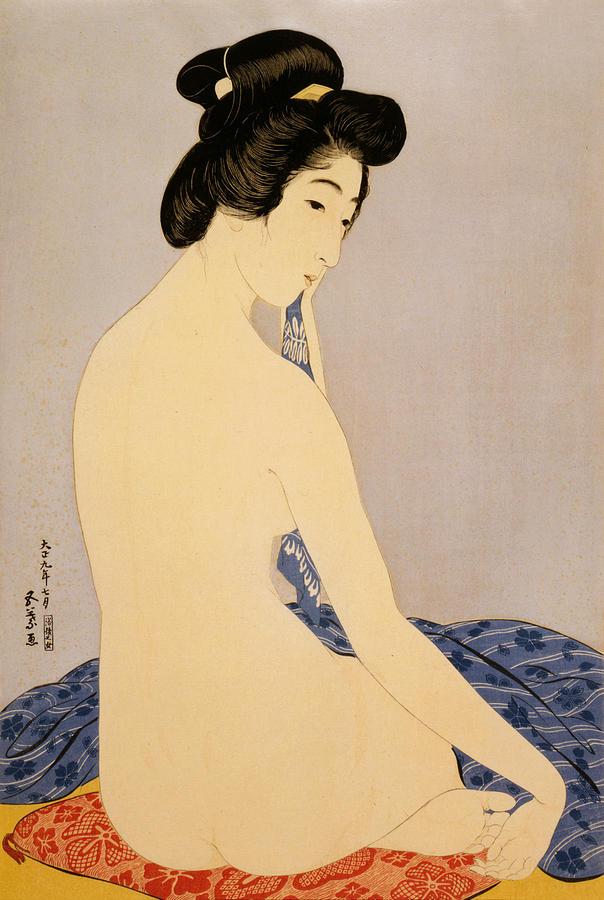 Hashiguchi Digital Art - Woman After Bath by Georgia Fowler