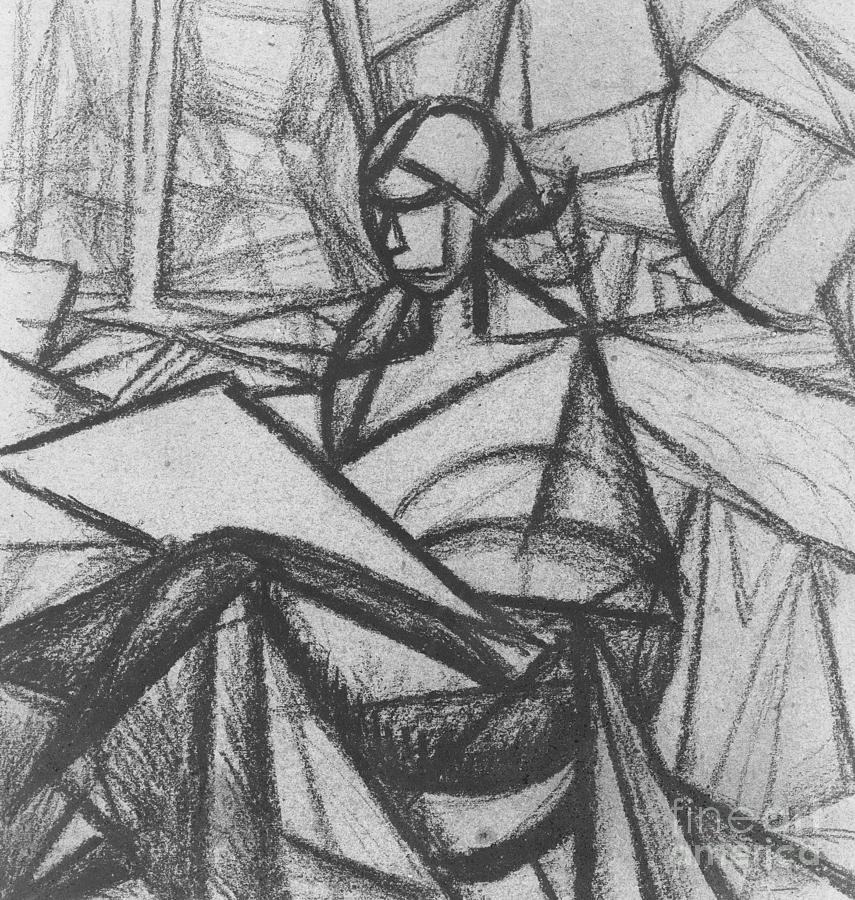 Abstract Drawing - Woman by Alexander Bogomazov
