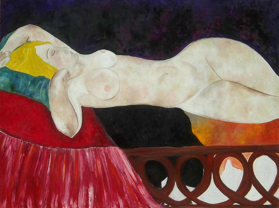 Nudes Painting - Woman by Andrea Vazquez-Davidson