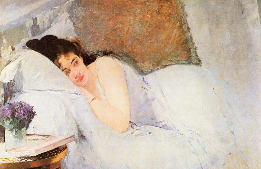 Sister Jeanne Painting - Woman Awakening by Eva Gonzales