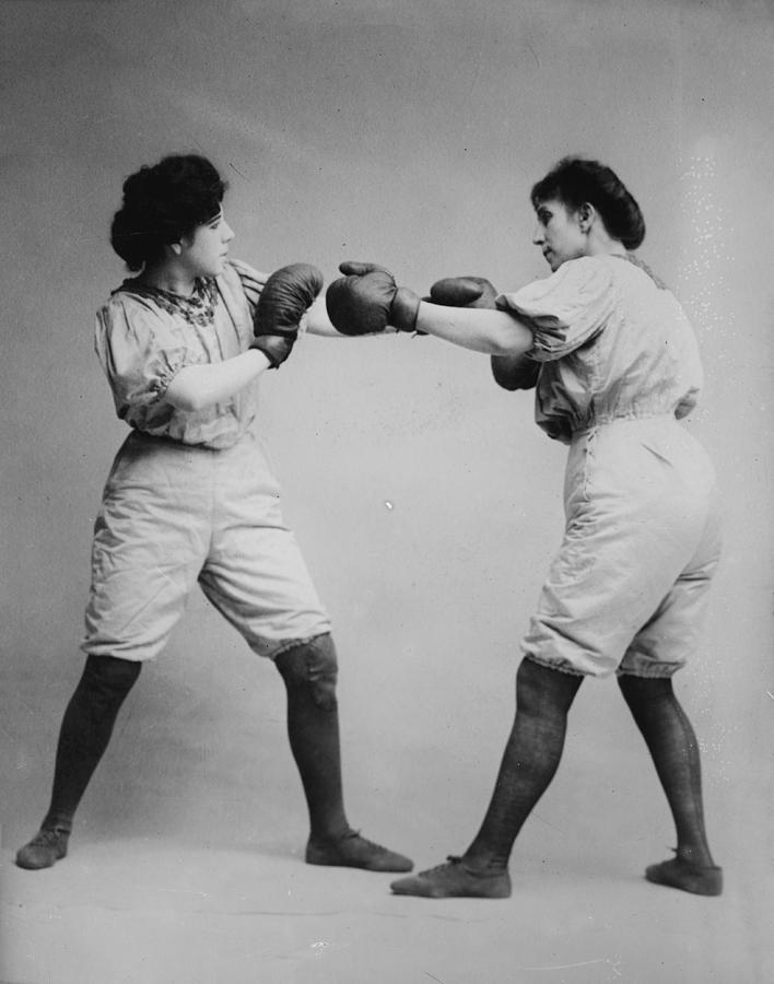 Bennett Photograph - Woman Boxing by Bill Cannon