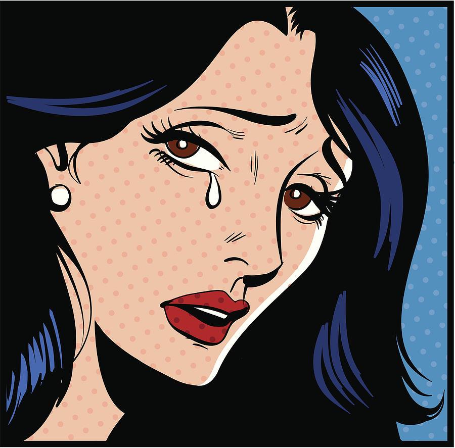 Woman Crying Digital Art by Mcmillan Digital Art