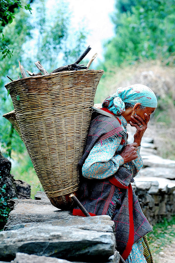 Woman Photograph - Woman From The Mountains by Abhilash G Nath