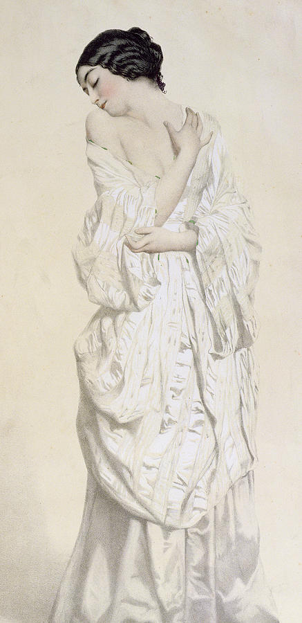 Female Painting - Woman In A Dressing Gown by French School