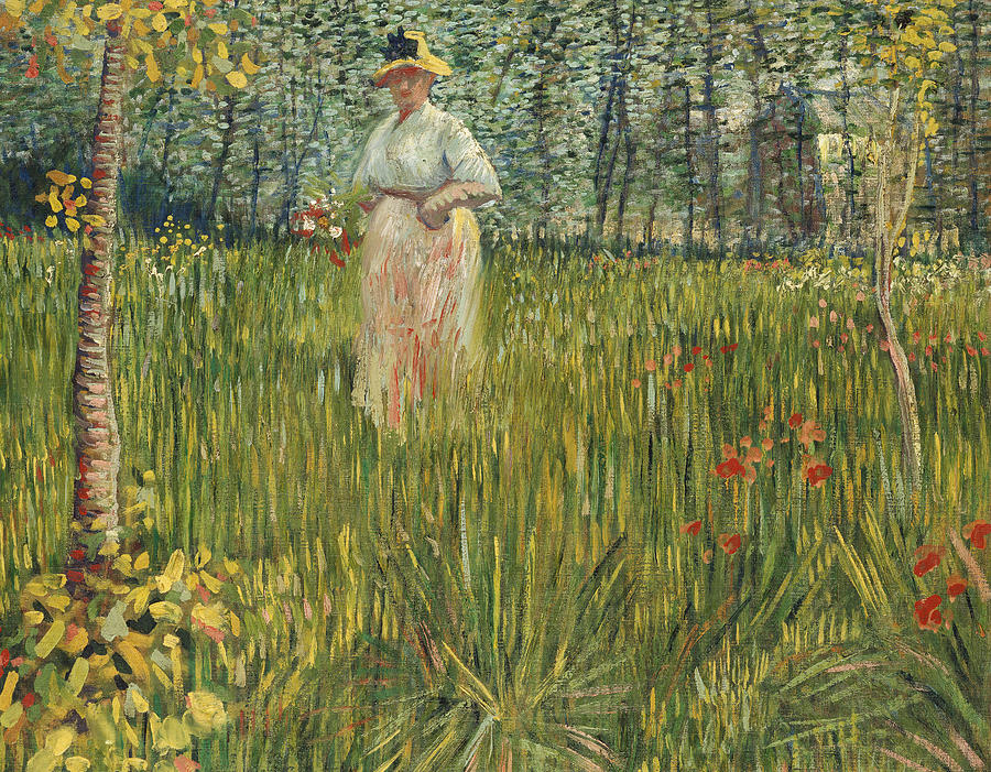 Vincent Van Gogh Painting - Woman In A Garden by Vincent van Gogh