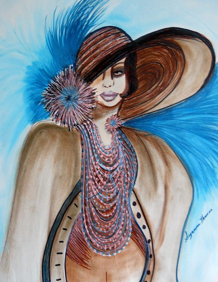 Portrait Fine Art Acrylic Prints Painting - Woman Lost by Suzanne Thomas