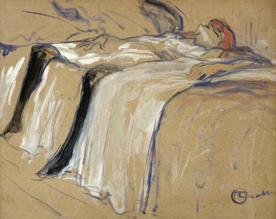Woman Lying On Her Back Drawing by Henri de Toulouse Lautrec