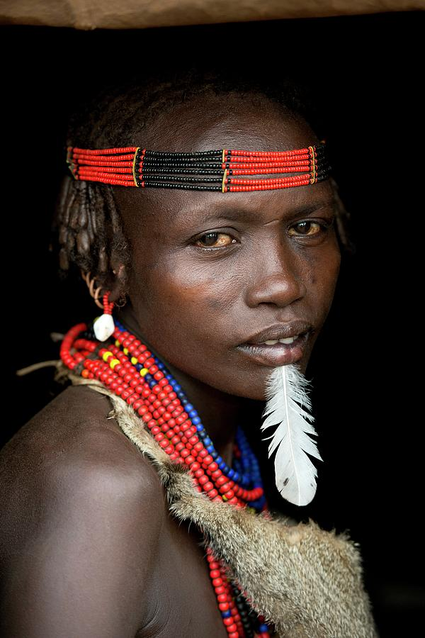 Africa Photograph - Woman Of The Dassenech Tribe by Tony Camacho